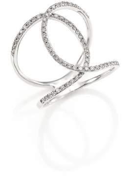 Ef Collection Women's Pavé Diamond Infinity Ring
