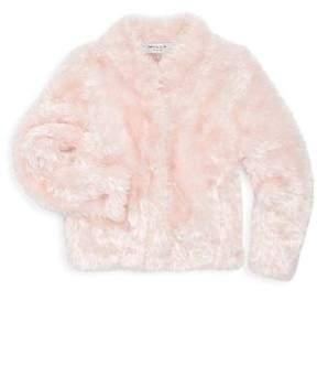 Milly Minis Girl's Faux Fur Plush Jacket