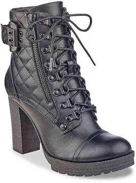 G by Guess Women's Gloss Combat Boot