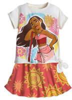 Disney Moana Shirt and Skirt Set for Girls