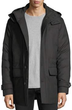 Ermenegildo Zegna Wool Flap-Pocket Coat w/ Removable Hood