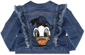 MonnaLisa Donald Duck Patch Denim Effect Jacket
