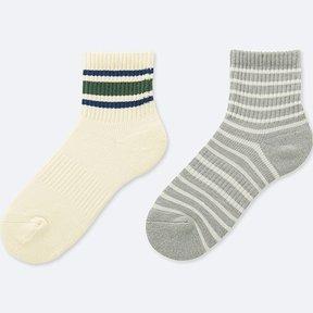 Uniqlo Boy's Half Socks (2 Pairs)