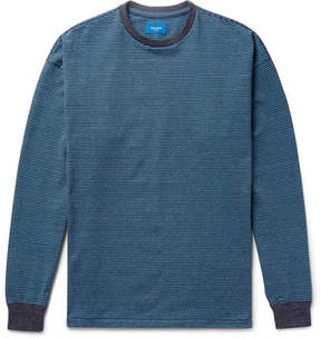 Beams Striped Mélange Cotton-Blend Jersey Sweatshirt