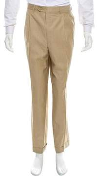 Luciano Barbera Cropped Flat Front Pants