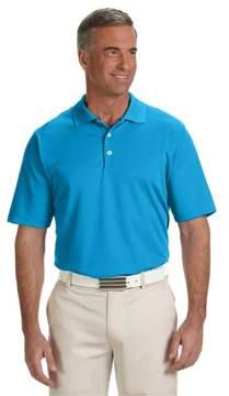 adidas A170 Mens ClimaLite Textured Solid Polo - Solar Blue & White, Medium