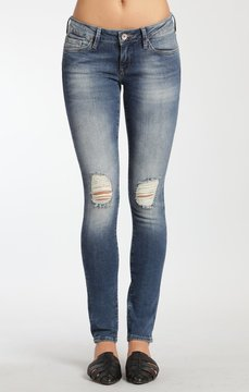 Mavi Jeans Serena Super Skinny In Knee Ripped Vintage