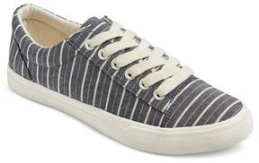 Mossimo Women's Celeste Striped Print Sneakers Navy/Cream