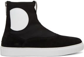 McQ Black Takeshi Zip Boots
