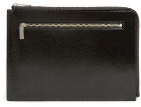 Nordstrom Leather Zip Pouch - Black