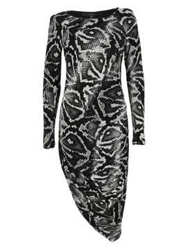 GUESS Women's Long Sleeves Asymmetrical Dress