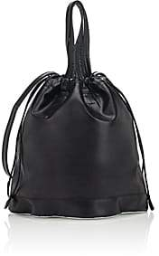 Paco Rabanne Women's Cloud Leather Drawstring Pouch-Black