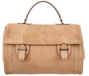 Reed Krakoff Python Trimmed Top Handle Bag