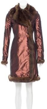 Alessandro Dell'Acqua Fur-Trimmed Silk Coat