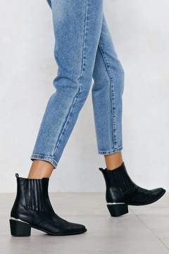 Nasty Gal I Love Croc 'N Roll Vegan Leather Boot