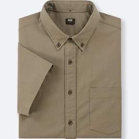 Uniqlo Men's Dry Seersucker Short-sleeve Shirt