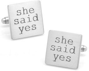 Asstd National Brand She Said Yes Cuff Links