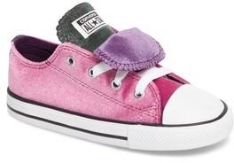 Converse Infant Girl's Velvet Double Tongue Sneaker