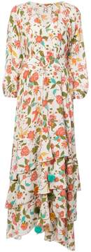 Figue Frederica floral-print ruffled maxi dress