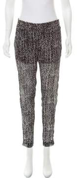 Enza Costa Abstract Print Mid-Rise Pants