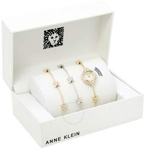 Anne Klein Mother of Pearl Dial Ladies Watch Set