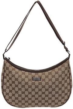 Gucci GG leather crossbody bag - BROWN - STYLE