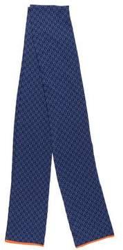 Hermes Silk Jacquard Knit Muffler