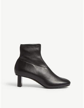 Joseph Zipped leather ankle boot