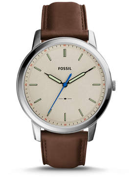 Fossil The Minimalist Slim Three-Hand Brown Leather Watch