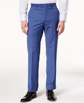 Sean John Men's Classic-Fit Stretch Blue Plaid Suit Pants