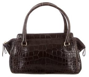 Oscar de la Renta Vintage Alligator Handle Bag