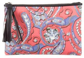 Mary Katrantzou Leather-Trimmed Printed Pouch