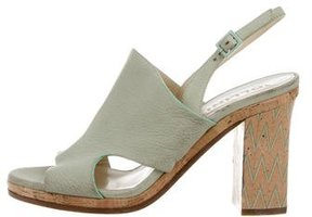 Pollini Leather Slingback Sandals