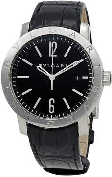 Bvlgari Black Dial Black Alligator Leather Strap Automatic Men's Watch