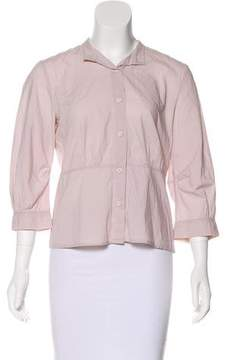 Cacharel Long Sleeve Button-Up Top