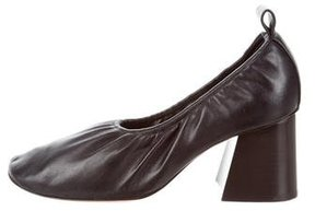 Celine Square-Toe Leather Pumps