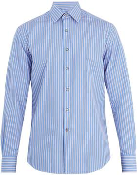 Lanvin Banker striped single-cuff cotton shirt