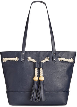 Giani Bernini Pebble Leather Tassel Tote, Created for Macy's