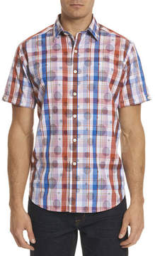 Robert Graham Desmodium Plaid Short-Sleeve Sport Shirt