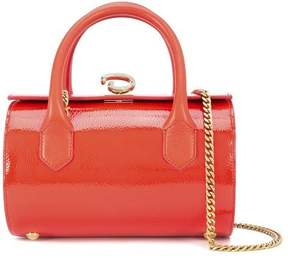 Oscar de la Renta Carnelian Leather Mini Battery Bag