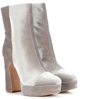 Alexandre Birman Suede plateau ankle boots