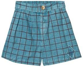 Bobo Choses Blue Net Print Bermuda Shorts