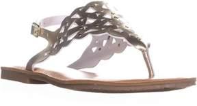 Rock & Candy Breeana Studded T-strap Flat Sandals, Gold.