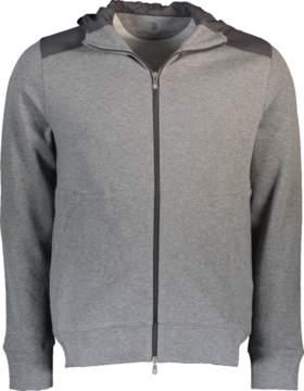 Brunello Cucinelli Mix Media Hooded Jacket