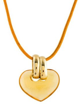 Chimento 18K Citrine Heart Pendant