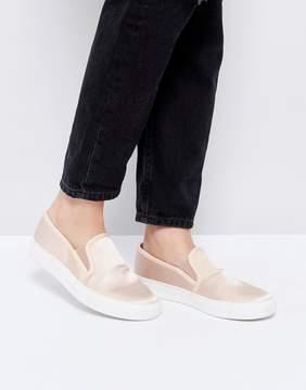 Faith Karlie Natural Slip On Sneakers