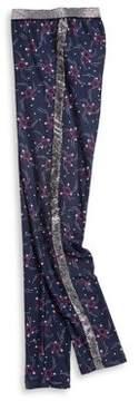 Jessica Simpson Girl's Glittered Leopard Leggings