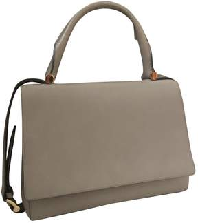 Max Mara Grey Leather Handbag