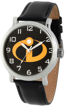 Disney The Incredibles 2 Mens Black Strap Watch-Wds000580