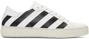 Off-White White Classic Diagonal Sneakers